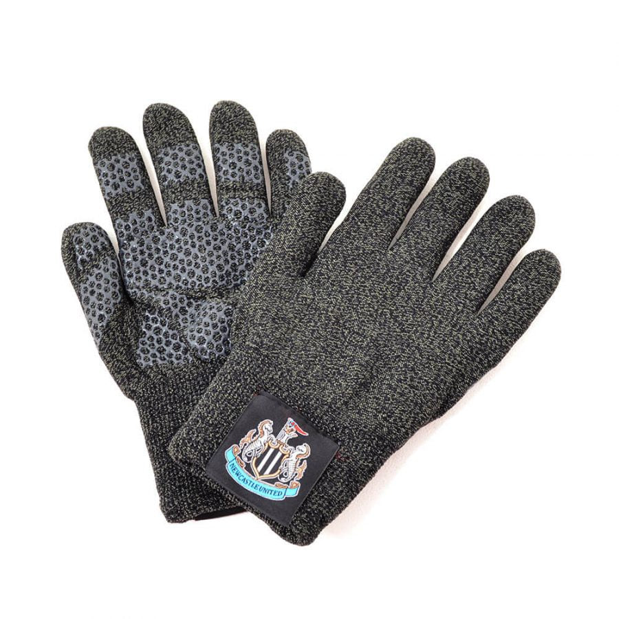 NEWCASTLE UTD TOUCHSCREEN KNITTED GLOVES
