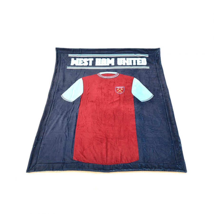 WEST HAM UTD TEAM KIT BLANKET