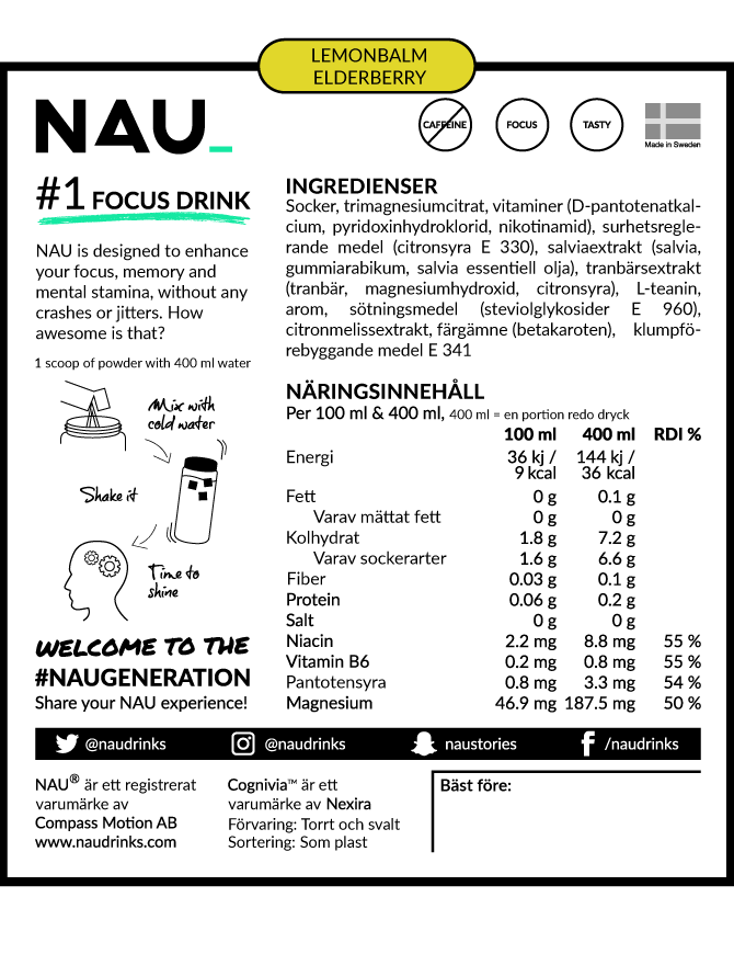 Nau energy produkt label