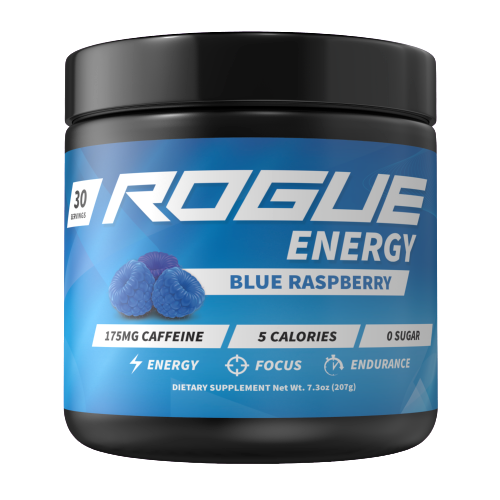 Rogue Energy - Blue raspberry-Rouge Energy tub-E-fuel.dk