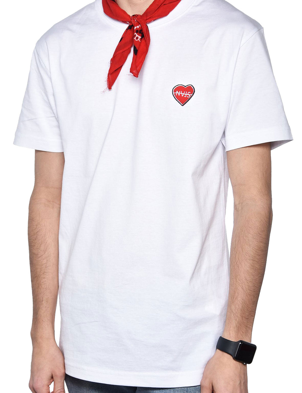 BE NAJS TEE (WHITE)