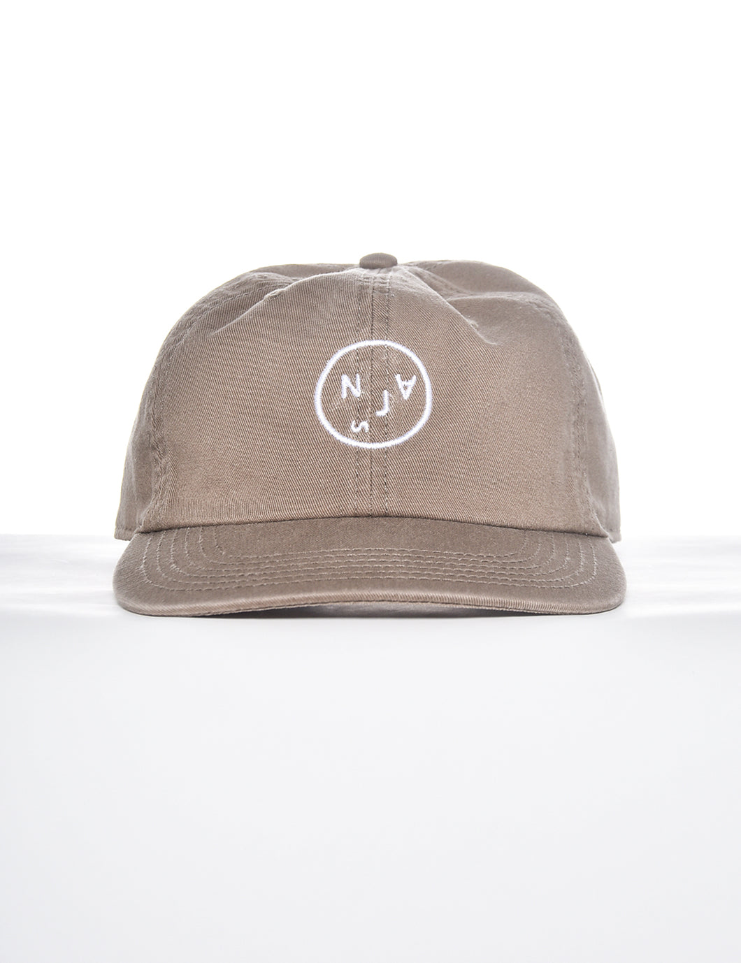 "NAJS ""FACE"" CAP (WASHED BEIGE)"