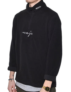 HALF ZIP FLEECE (BLACK)