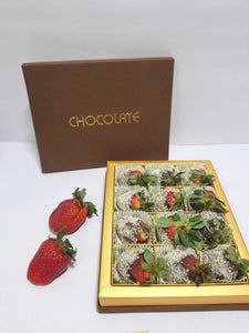 CHOCOLATE DIPPED STRAWBERRIES ALMONDS - FruitDay