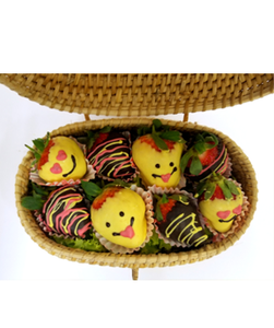 SMILEY BERRIES - CANE BASKET - FruitDay