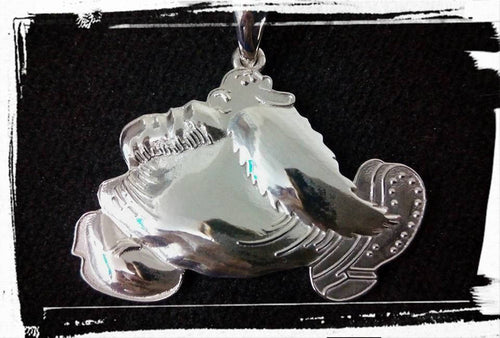 Grateful Dead, Sterling Silver Mr. Natural Pendant with Truckin lyrics engraved on back