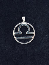 Load image into Gallery viewer, Zodiac, Libra Astrological Sign Pendant in 925 Sterling Silver