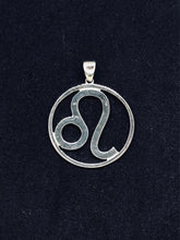 Load image into Gallery viewer, Zodiac, Leo Astrological Sign Pendant in 925 Sterling Silver