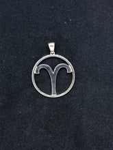 Load image into Gallery viewer, Zodiac, Aries Astrological Sign Pendant in 925 Sterling Silver