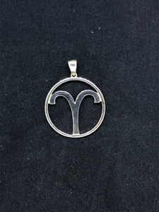 Zodiac, Aries Astrological Sign Pendant in 925 Sterling Silver