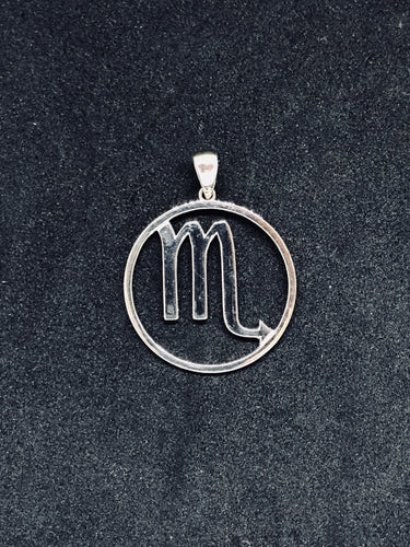 Zodiac, Scorpio Astrological Sign Pendant in 925 Sterling Silver