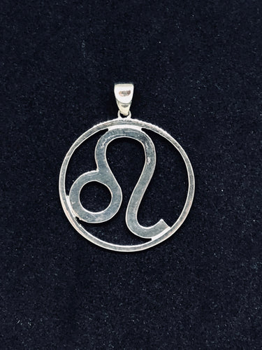 Zodiac, Leo Astrological Sign Pendant in 925 Sterling Silver