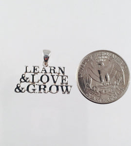 Grateful Dead, Sterling Silver Learn, Love & Grow Pendant