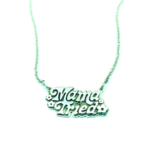 Sterling Silver Mama Tried Charm Necklace, Grateful Dead