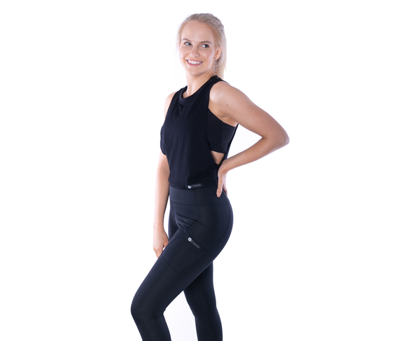 Bamboo Free Mover Tank - Black - Short Length - Ethica Activewear