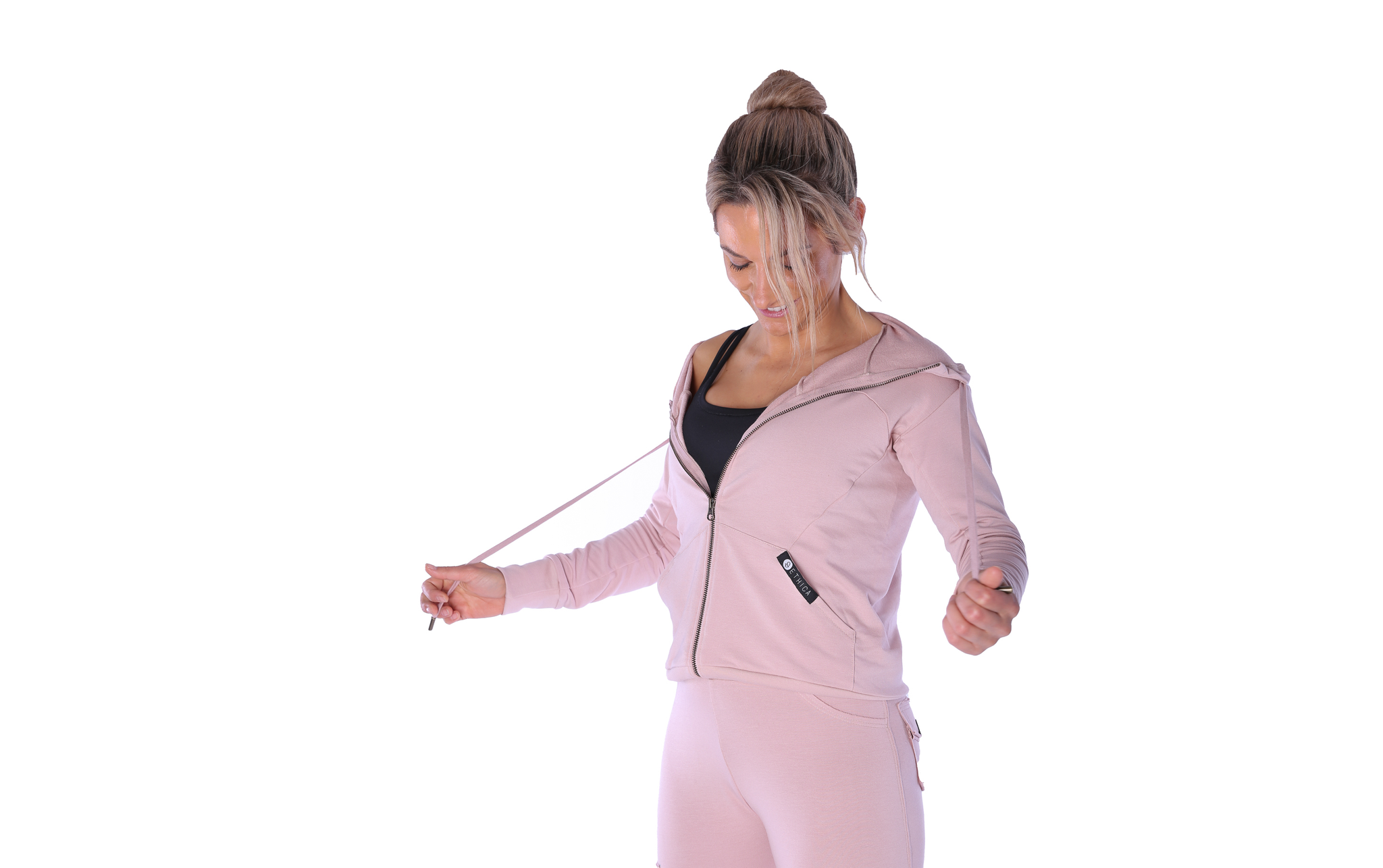 Bamboo Vintage Hoodie - Blush - Ethica Activewear