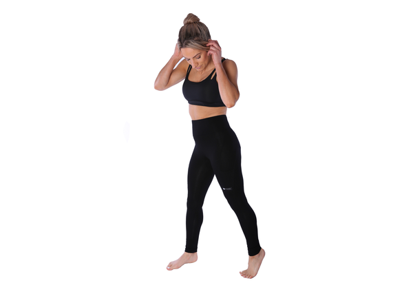 Bamboo Pocket Leggings - Black - Ethica Activewear