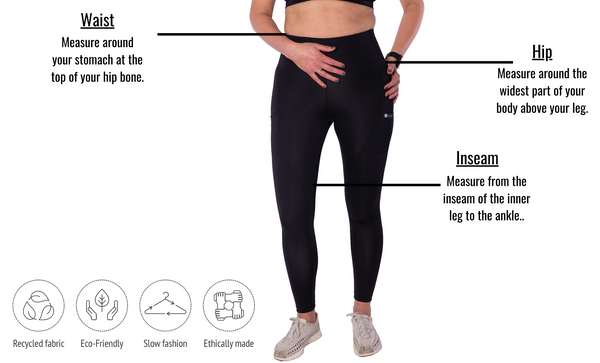 Aliento Compression Leggings - Black Sapphire - Ethica Activewear