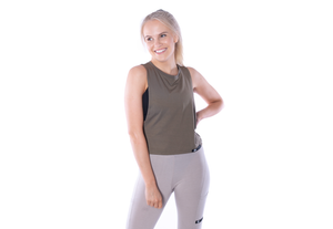 Bamboo Free Mover Tank - Juniper - Long Length - Ethica Activewear