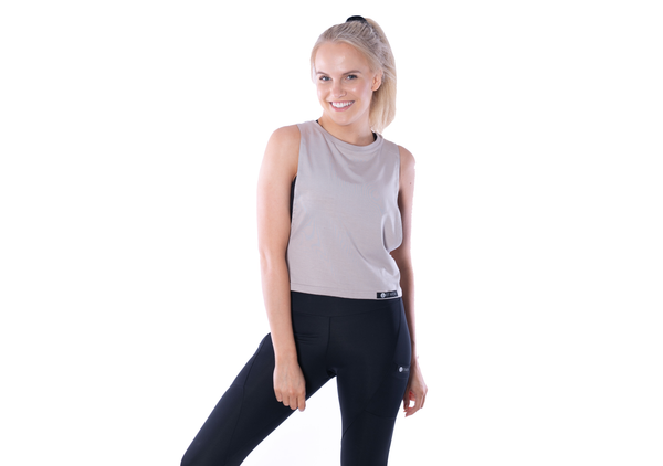 Bamboo Free Mover Tank - Oak - Long Length - Ethica Activewear