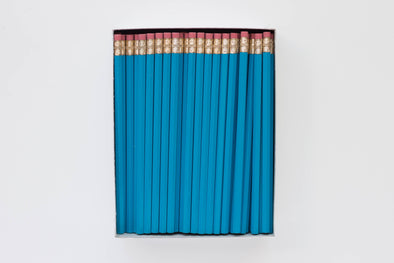 Custom Bright Blue Pencils