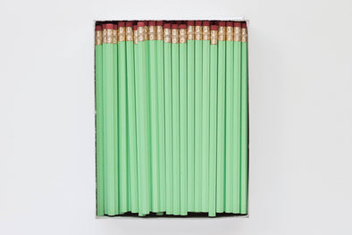Custom Pistachio Mint Pencils