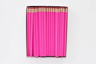Custom Hot Pink Magenta Pencils