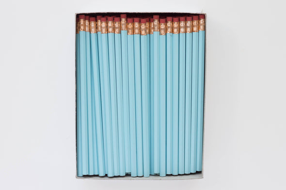 Custom Baby Blue Pencils