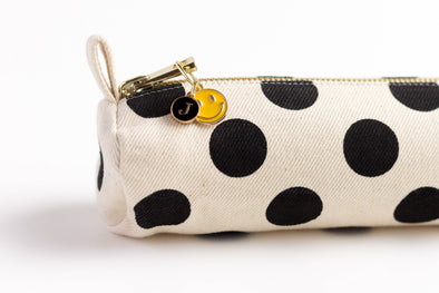 Happy Face Charm Initial Pencil Case