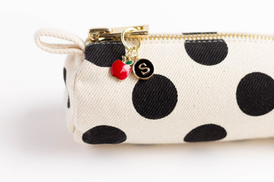 Apple Charm Initial Pencil Case