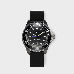 'Atlantic' Dive Watch (40mm) | Seal Black
