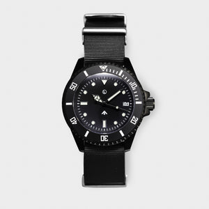 'Atlantic Black' Dive Watch (40mm) | Seal Black NATO x Limited Edition