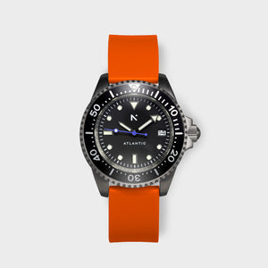 'Atlantic' Dive Watch (40mm) | Flare Orange