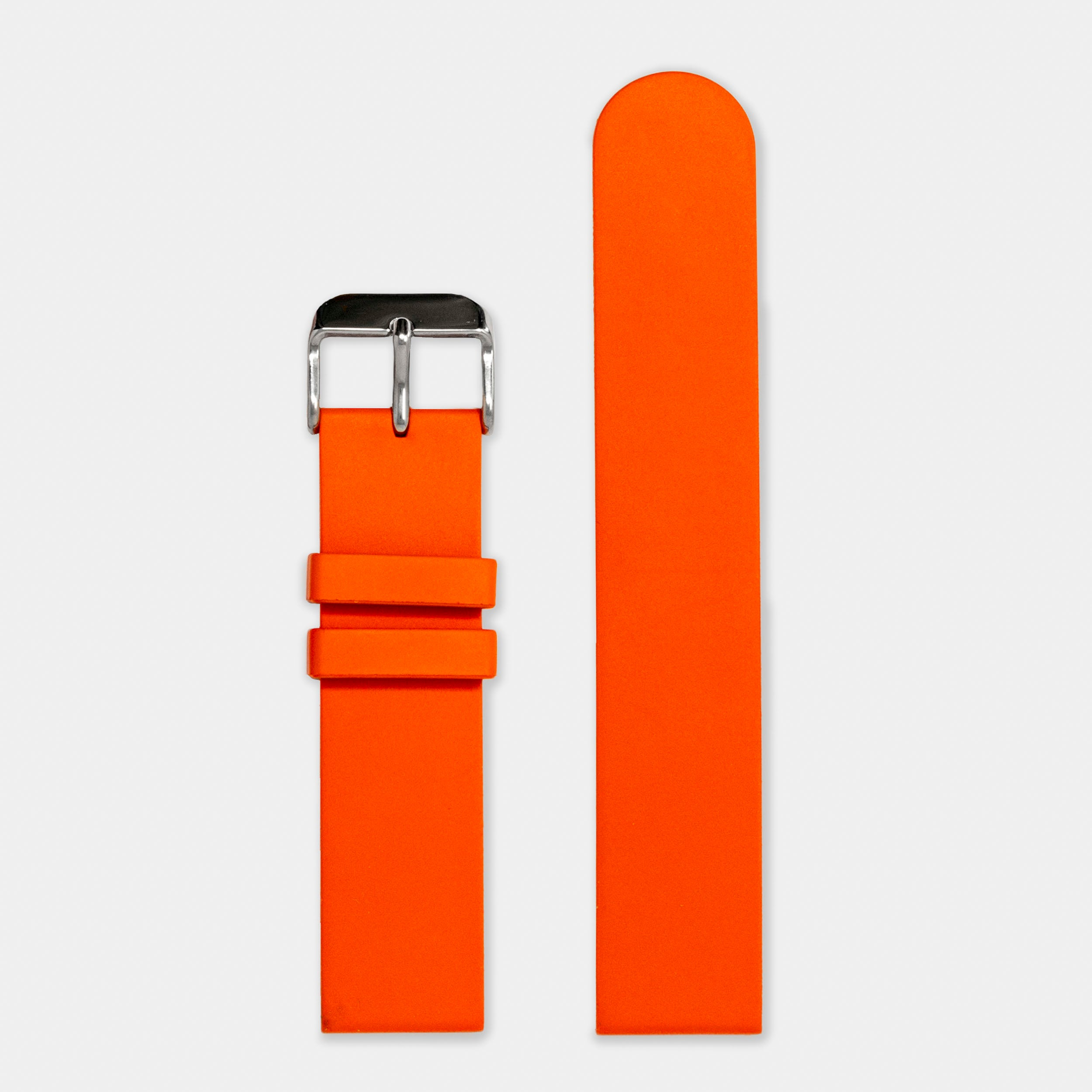 Natural Rubber Watch Strap (20mm) | Flare Orange