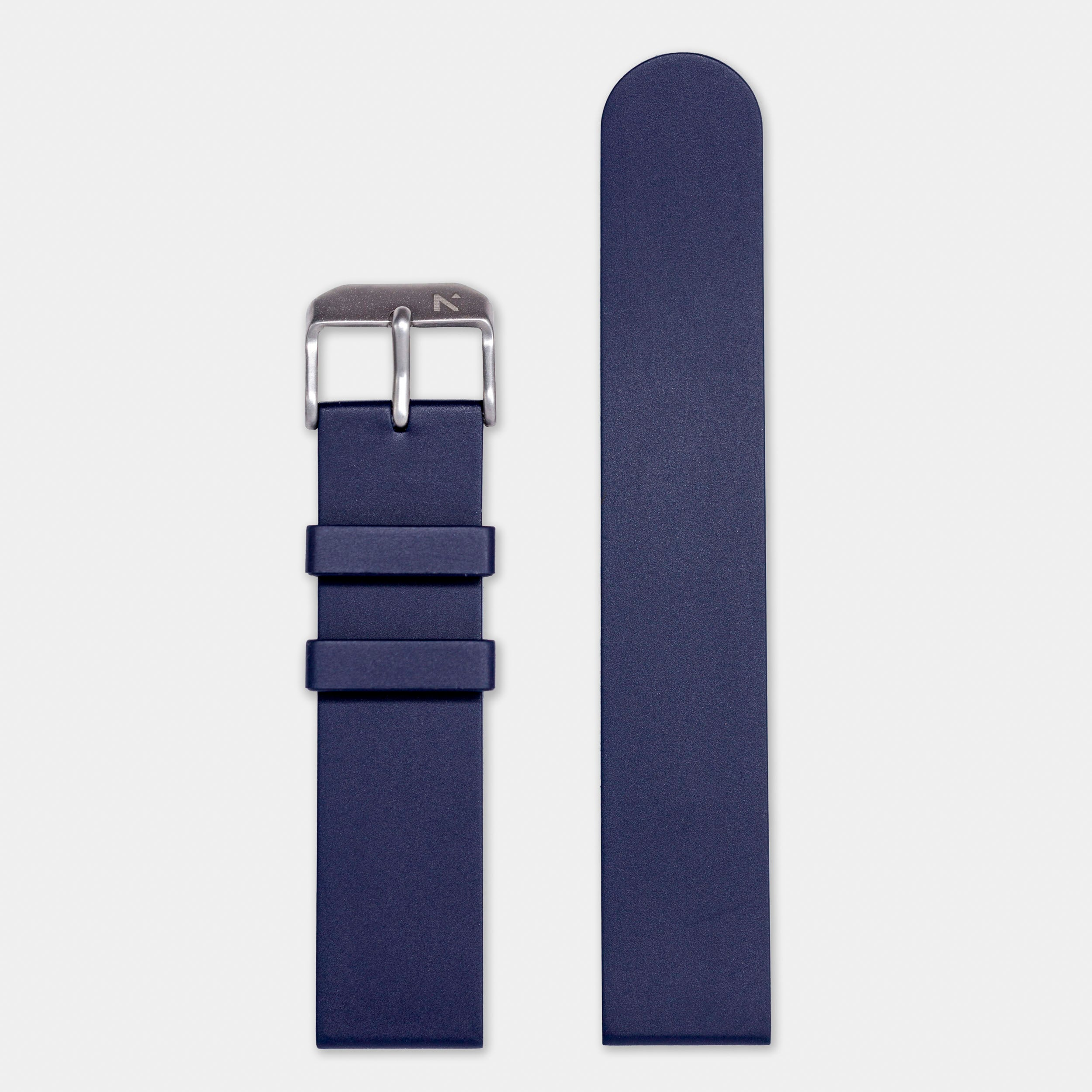 Natural Rubber Watch Strap (20mm) | Deep Night