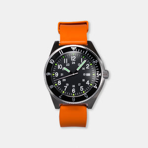 'Tempest' Navigator Watch (40mm) | Flare Orange