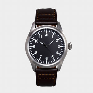 'Turbulence' Cat.1 Aviator's Watch (46mm) | Pullman Brown