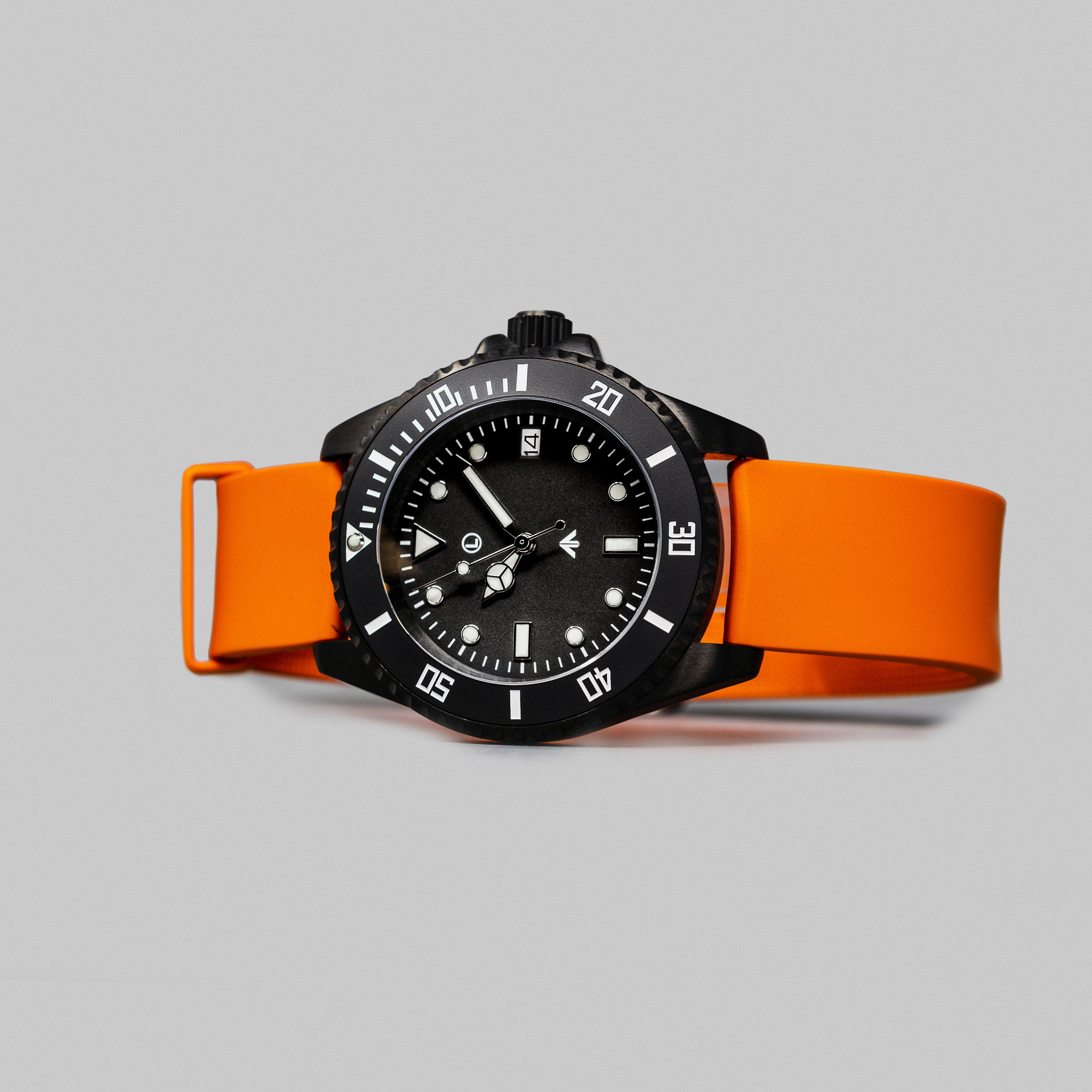 'Atlantic Black' Dive Watch (40mm) | Flare Orange x Limited Edition