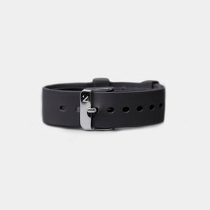Natural Rubber Watch Strap (18mm) | Pitch Black