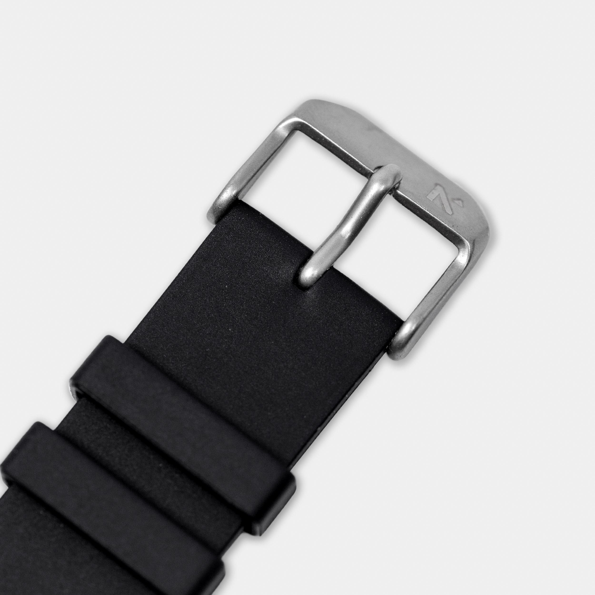 Natural Rubber Watch Strap (20mm) | Seal Black