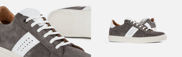 Goral Gospel | The Many Ways To Style Grey Suede Trainers