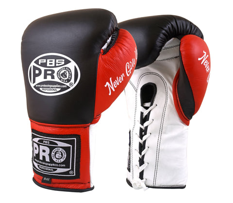 Pro Boxing® Official Pro Fight Gloves - Black/Red/White