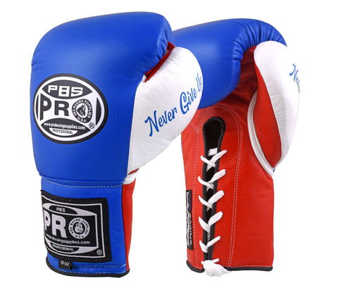 Pro Boxing® Official Pro Fight Gloves - Blue/Red/White