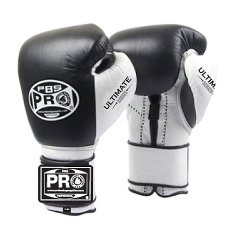 Pro Boxing® Ultimate Velcro Boxing Gloves – Black/White