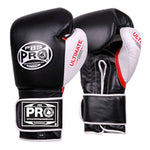 Pro Boxing® Ultimate Velcro Boxing Gloves – Black/White/Red