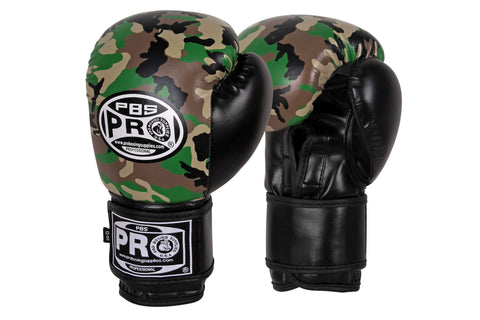 Pro Boxing® Series Deluxe Starter Velcro Boxing Gloves - Camouflage