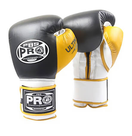 Pro Boxing® Ultimate Velcro Boxing Gloves – Black/Yellow