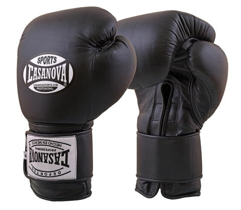 Casanova Boxing® Hook and Loop Training Gloves - BLACK