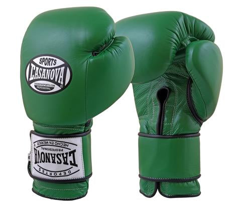 Casanova Boxing® Hook and Loop Training Gloves - GREEN
