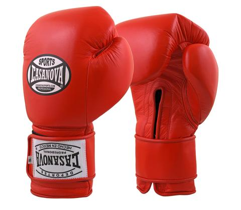 Casanova Boxing® Hook and Loop Training Gloves - RED